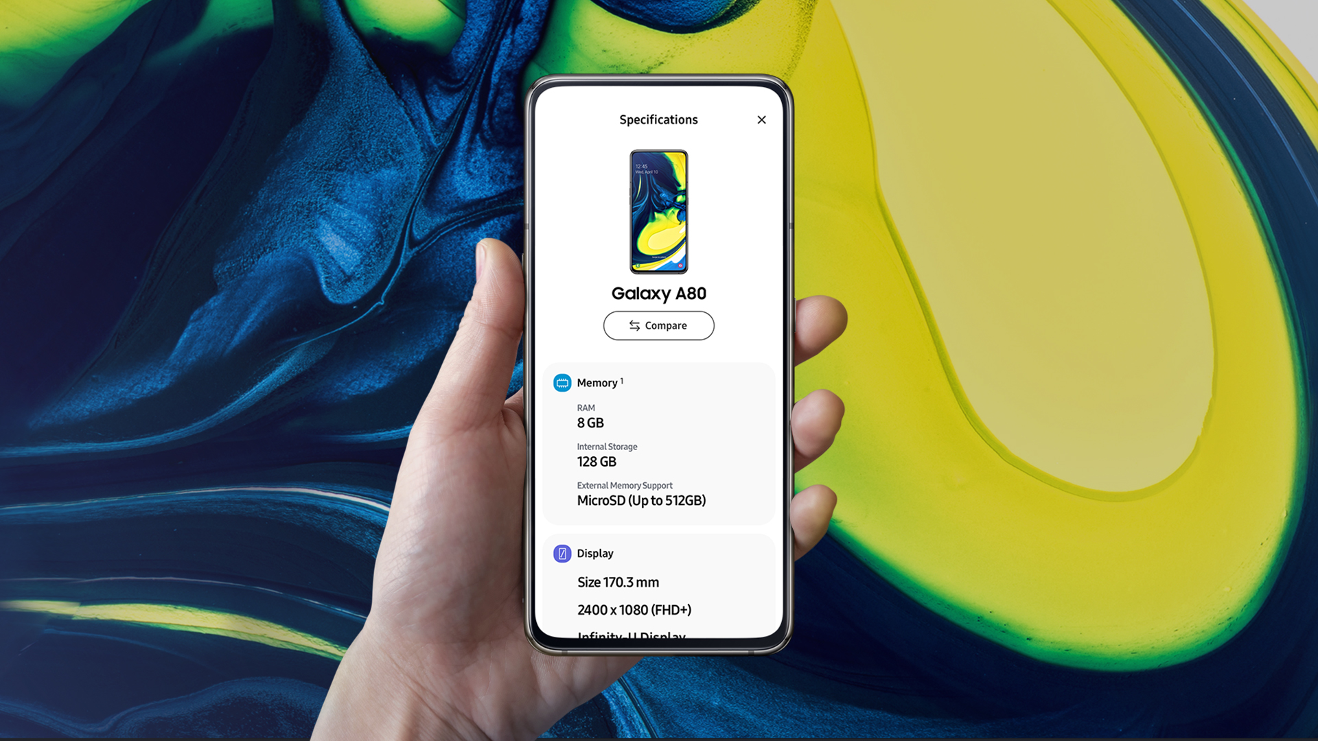 """Galaxy A Series Spec App <span class=""""protected-icon""""></span>"""